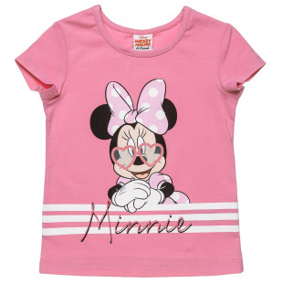 Top Disney Minnie Mouse with glitter detail (12 months-5 years)