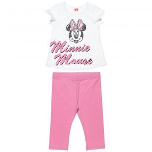 Σετ Disney Minnie Mouse μπλούζα με παγιέτες και κολάν (12 μηνών-5 ετών)