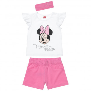 Set Disney Minnie Mouse top, shorts and hair ribbon (2-5 years)