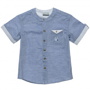 Shirt with mao collar and front pocket (6-16 years)