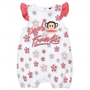 Babygrow Paul Frank with floral print (1-9 months)