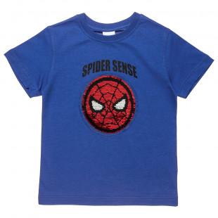 Μπλούζα Marvel Spiderman με διπλή παγιέτα (4-10 ετών)
