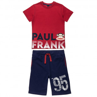 Set Paul Frank t-shirt and shorts with print (12 months-5 years)