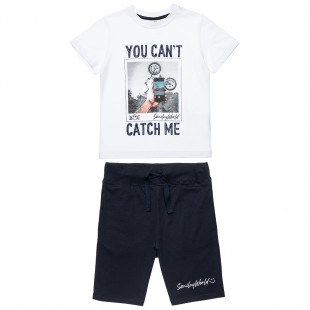 Set Smiley t-shirt and shorts with print (6-14 years)