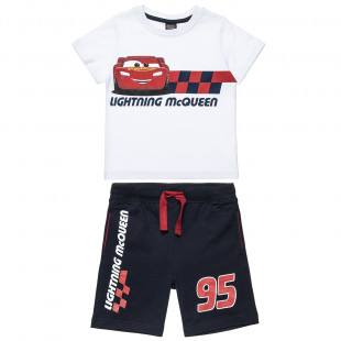 Set Disney McQueen t-shirt and shorts with print (2-6 years)