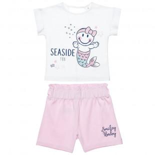 Σετ μπλούζα με τύπωμα με τύπωμα και σορτς (12 μηνών-3 ετών)