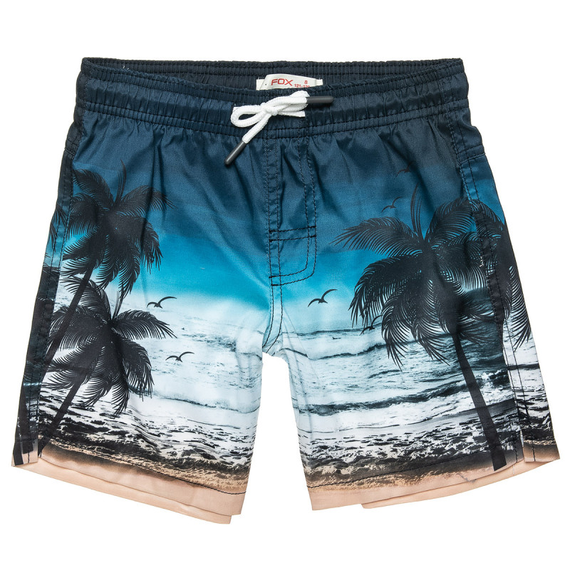 Swimshorts with tropical print (6-16 years)