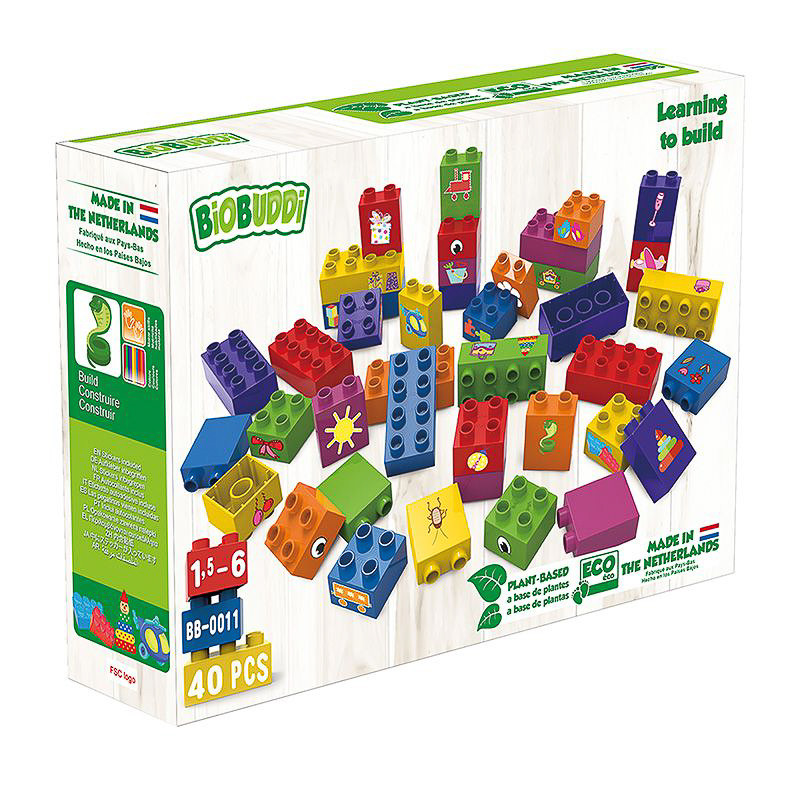 """Τουβλάκια οικολογικά """"Μαθαίνω να χτίζω"""" (1,5-6 ετών)"""