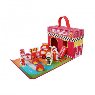 "Wooden toy eco ""Fire station"" (18 months+)"