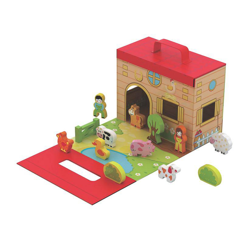 """Παιχνίδι απο φυσικό ξύλο """"Foldaway farm"""" (18 μηνών+)"""