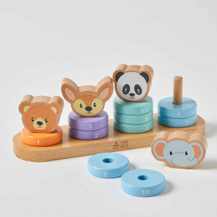 Toy from natural wood 15-piece (12 months+)