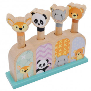 """Toy from natural wood """"Pop up animals"""" (12 months+)"""