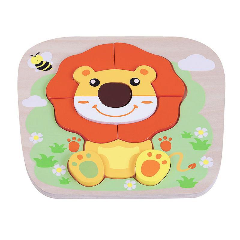 Παιχνίδι παζλ λιοντάρι απο φυσικό ξύλο (1 έτους+)
