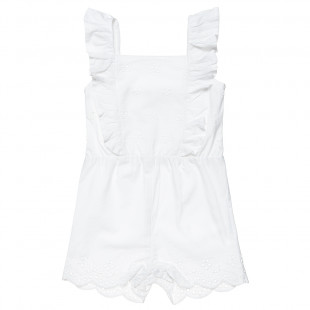 Playsuit with an embroidered pattern (12 months-3 years)