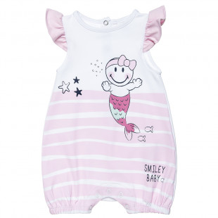 Babygrow Smiley with frilled shoulders (1-9 months)