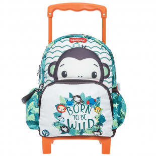 Trolley backpack Fisher Price with 3D monkey print
