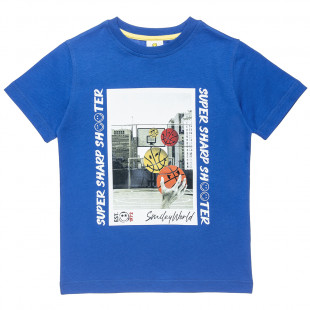 """T-Shirt Smiley with print """"Super shooter"""" (6-14 years)"""