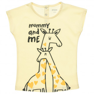 """Top with print """"Mummy and me"""" (12 months-4 years)"""