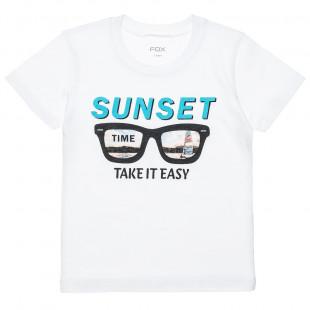"""Μπλούζα με τύπωμα """"Sunset time"""" (12 μηνών-3 ετών)"""