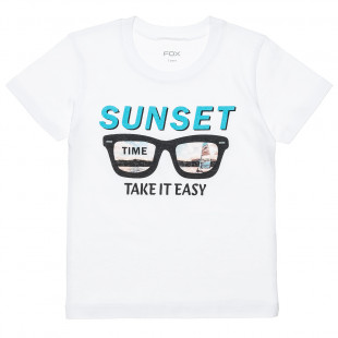 """T-Shirts with print """"Sunset time"""" (12 months-3 years)"""