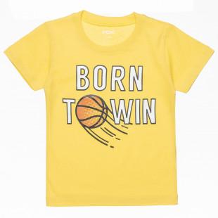 """Μπλούζα με τύπωμα """"Born to win"""" (12 μηνών-3 ετών)"""