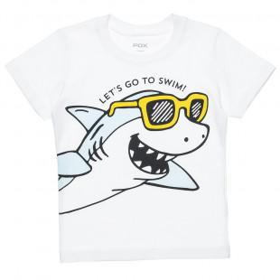 """Μπλούζα με τύπωμα """"Let's go to swim"""" (12 μηνών-3 ετών)"""
