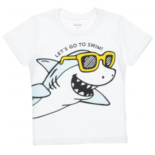 """T-Shirt with print """"Let's go to swim"""" (12 months-3 years)"""