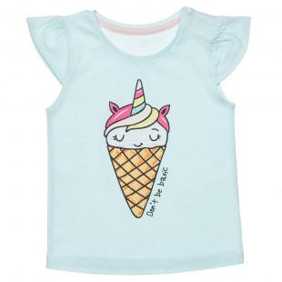 Μπλούζα με τύπωμα παγωτό (12 μηνών-3 ετών)