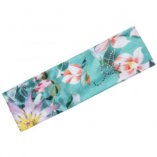 Hairband with floral pattern and strass (6-12 years)