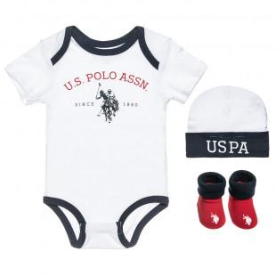 Σετ 3τμχ Polo Ralph Rauren (0-6 μηνών)