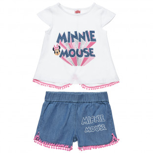 Set Disney Minnie Mouse with pom pon details (12 months-5 years)
