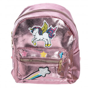 Backpack shine with embroidery