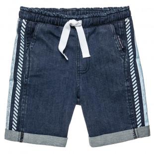 Shorts denim with drawstring at elasticized waist (12 months-5 years)