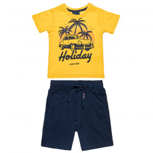 Set Five Star t-shirt with print and shorts (12 months-5 years)