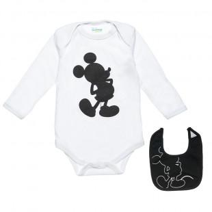 Φορμάκι Disney Mickey Mouse με ασορτί σαλιάρα σε βαλιτσάκι (0-3 μηνών)