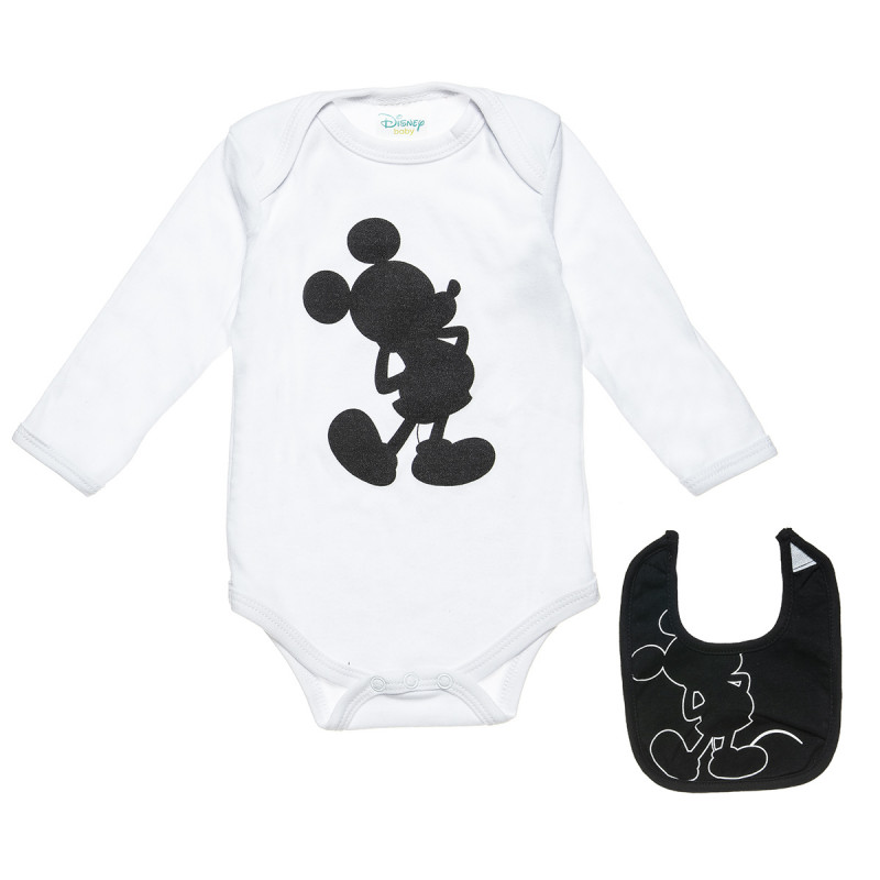 Babygrow Disney Mickey Mouse with bib in a box (0-3 months)