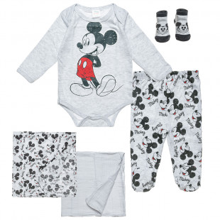 5-pieces set Disney Mickey Mouse babygrow-pants-shocks-2 cuddle sheets (0-3 months)