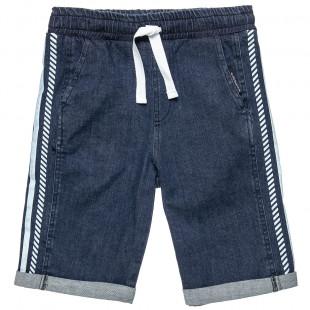 Shorts denim with drawstring at elasticized waist (6-16 years)
