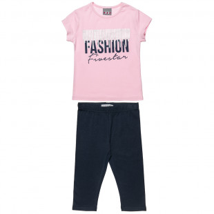 Set Five Star with print Fashion top with leggings (6-16 years)