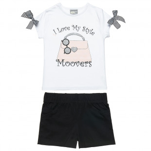 Σετ Moovers μπλούζα με glitter και σορτς (6-16 ετών)