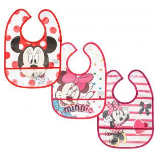 Σαλιάρες σετ 3τμχ Disney Minnie Mouse