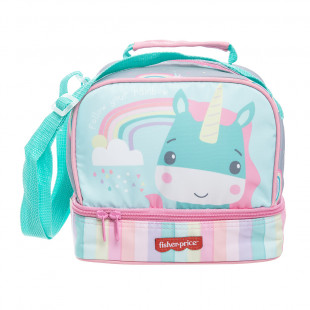 Lunch bag Fisher Price with unicorn print