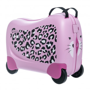 Luggage Samsonite leopard pink