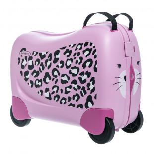 Βαλίτσα Samsonite τρόλεϊ leopard pink