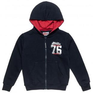 Zip hoodie Moovers with print (18 months-5 years)