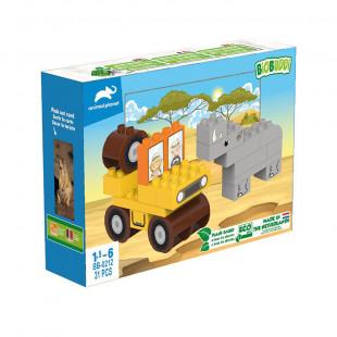 """Τουβλάκια BIOBUDDI οικολογικά """"Animal Planet"""" (1,5-6 ετών)"""