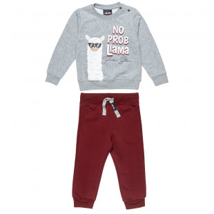 Σετ φόρμας Five Star μπλούζα με τύπωμα λάμα και παντελόνι (9 μηνών-5 ετών)