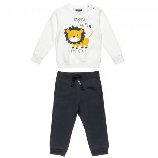 Σετ φόρμας Five Star μπλούζα με τύπωμα λιονταράκι και παντελόνι (9 μηνών-5 ετών)