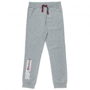 Παντελόνι φόρμας slim fit Moovers με τύπωμα (6-16 ετών)