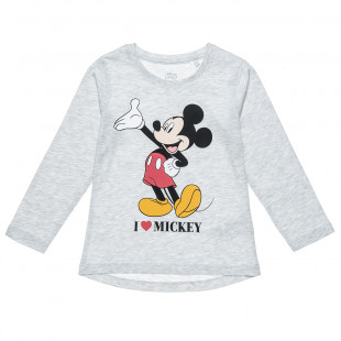 Long sleeve top Disney Mickey Mouse for girls (12 months-3 years)